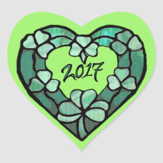 2017 Shamrock Heart Sticker