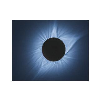 2017 Solar Eclipse - Crown of the Sun Canvas Print