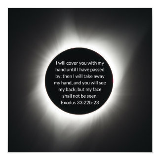 2017 solar eclipse image with Bible quote Magnetic Card