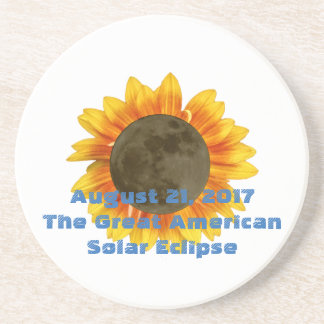 2017 Solar Eclipse, Sunflower Edition Coaster