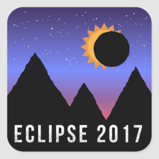 2017 Solar Eclipse Themed Stickers