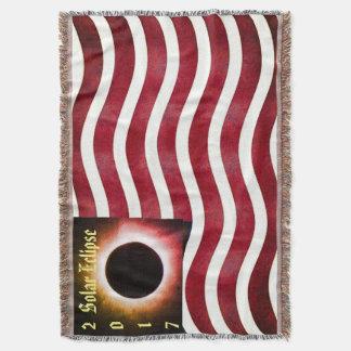 2017 Solar Eclipse Throw Blanket