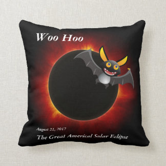 2017 Solar Eclipse, Vampire Edition Cushion