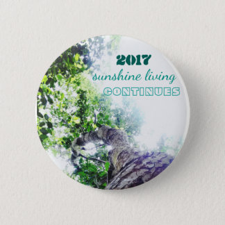 2017-sunshine living continues 6 cm round badge