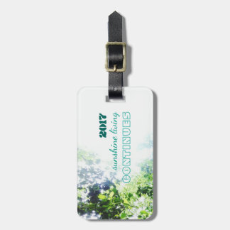 2017-sunshine living continues luggage tag