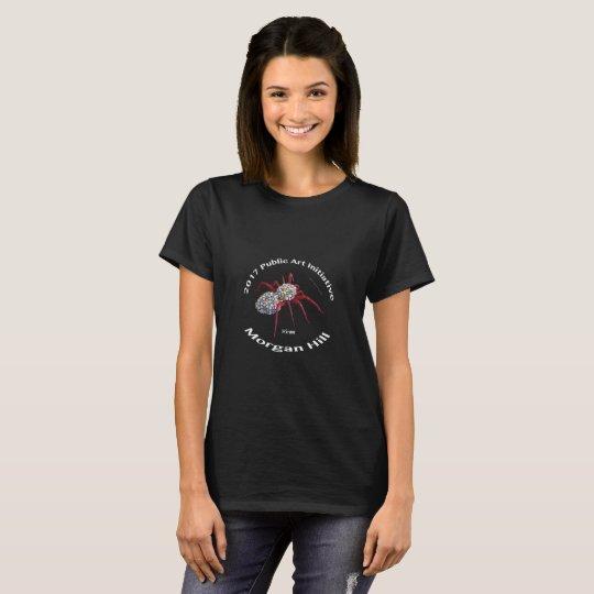 2017 Tarantula Art Shirt Womens Black