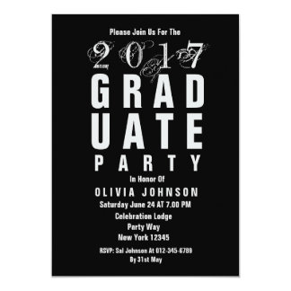 2017 Trendy Graduate Party Invitation