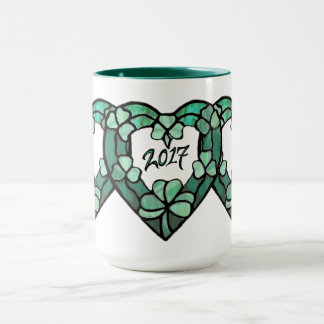 2017 Triple Shamrock Heart Mug