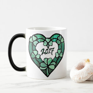 2017 Two Shamrock Heart Mug