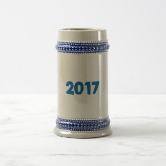 2017 U can change TEXT STYLE and TEXT COLOR Beer Stein