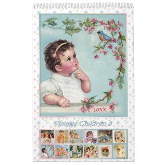 2017 Vintage Children Calendar 3