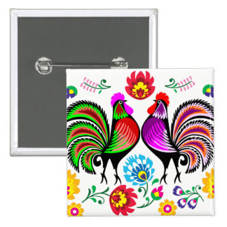2017 Year of the Rooster Design 1 15 Cm Square Badge