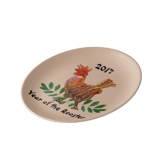 2017 Year of the Rooster Porcelain Plate