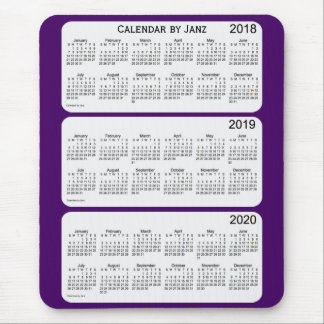 2018-2020 Purple Calendar by Janz Mouse Mat