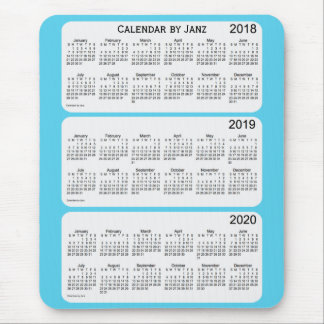 2018-2020 Sky Blue Calendar by Janz Mouse Mat