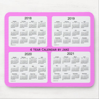 2018-2021 Violet 4 Year Calendar by Janz Mouse Mat