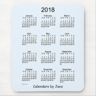 2018 Alice Blue Calendar by Janz Mouse Pad