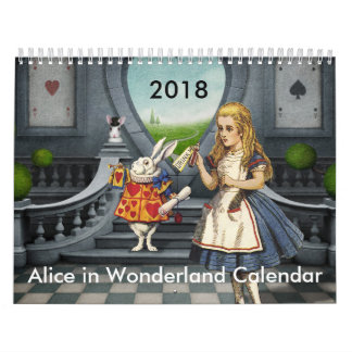 2018 Alice in Wonderland calendar