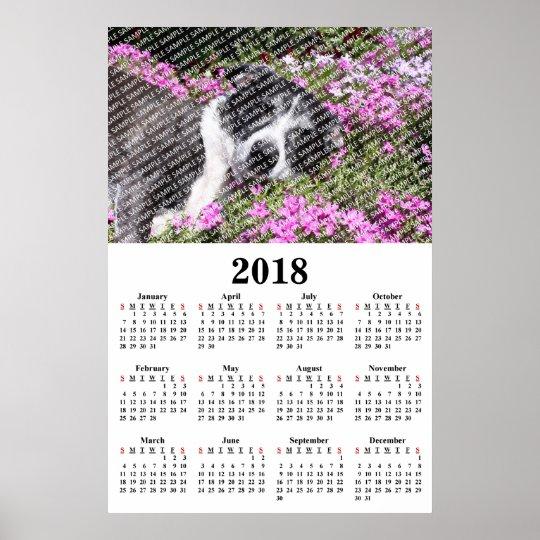 2018 Annual Family Photo Custom Calendar Poster