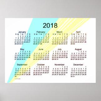 2018 Art Calendar Poster