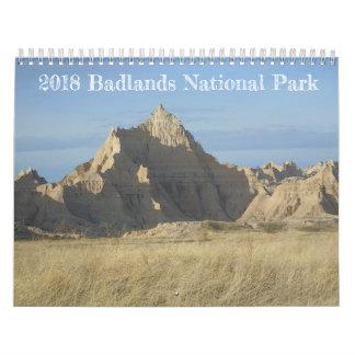 2018 Badlands National Park Calendar