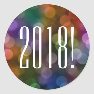 2018 bokeh classic round sticker