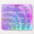 2018 Calendar Abstract Rainbow Mousepad