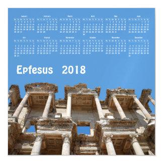 2018 calendar Ephesus, Turkey magnetic card