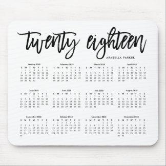 2018 Calendar | Modern Typography Mouse Mat