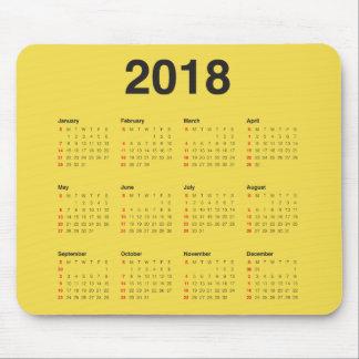 2018 Calendar Mouse Mat