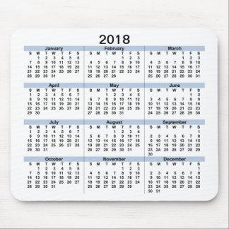 2018 Calendar Mousepad