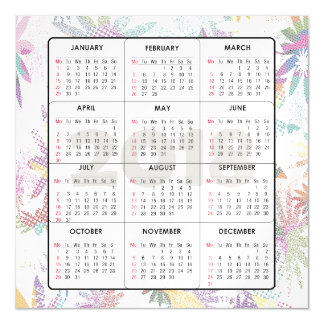 2018 Calendar Square Magnetic Card