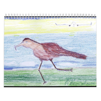 2018 Calendar with the Running Bird and Airplane.