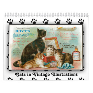 2018 Cats in Vintage Illustrations Calendar