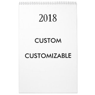 2018 Customizable Customize Custom Template Calendar