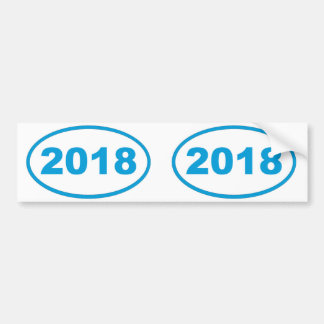 2018 cyan blue bumper sticker