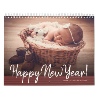 2018 Family Photo Happy New Year Baby Picture Wall Calendar