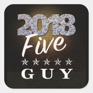 2018 Five Star Guy Text Sticker