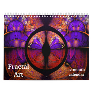 2018 Fractal Art Abstract Psychedelic Calendars