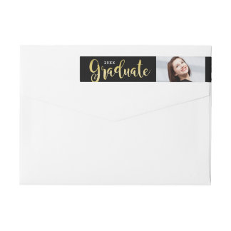 2018 Graduate   Photo Return Address Wrap Around Label