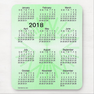 2018 Green Star Large Print Calendar by Janz Mouse Mat