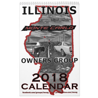 """""""2018"""" Illinois Monte Carlo Owners Group Calendar"""