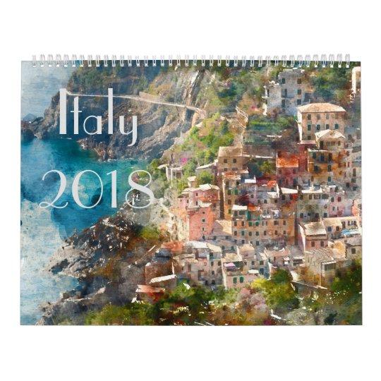 2018 Italy Art Watercolor Calendars