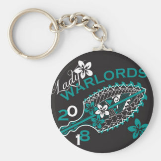 2018 Lady Warlords - Black Basic Round Button Key Ring