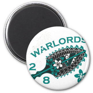 2018 Lady Warlords - Black/Transparent 6 Cm Round Magnet