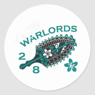 2018 Lady Warlords - Black/Transparent Round Sticker