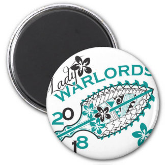 2018 Lady Warlords - White 6 Cm Round Magnet
