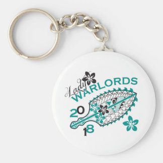 2018 Lady Warlords - White Basic Round Button Key Ring