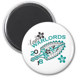 2018 Lady Warlords - White Design 6 Cm Round Magnet
