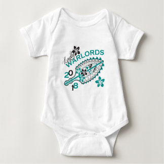 2018 Lady Warlords - White Design Baby Bodysuit
